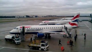HD Timelapse: London City Airport Westerly Operations. A