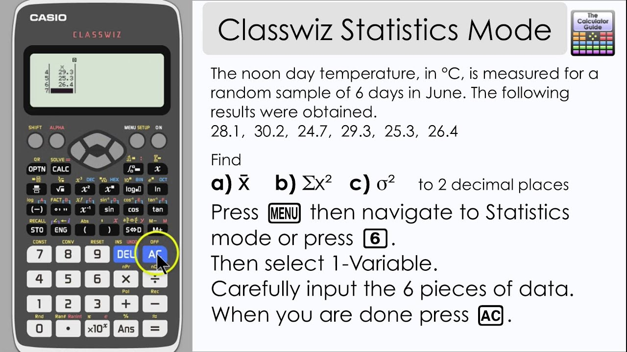 casio classwiz statistics mode mean variance other casio classwiz statistics mode mean variance other information 991ex 570ex the calculator guide