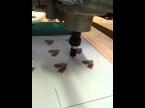 Cutting carded paper Homemade Solsylva CNC