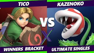 Smash Ultimate Tournament - Tico (Young Link)  Vs. Kazenoko (Piranha Plant) - S@X  288 SSBU Winners