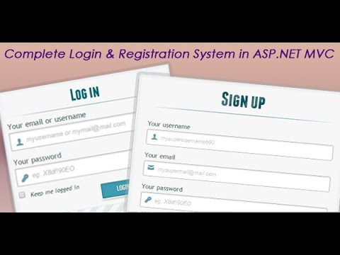 Complete login and registration system in ASP.NET MVC applic