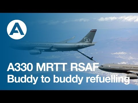 A330 MRTT RSAF buddy to buddy refuelling