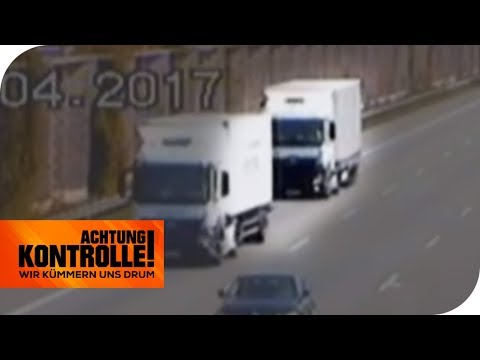 Nur 19m Abstand! LKW-Drängler auf der 'Todesstrecke': Wie hoch ist die Strafe?   Achtung Kontrolle