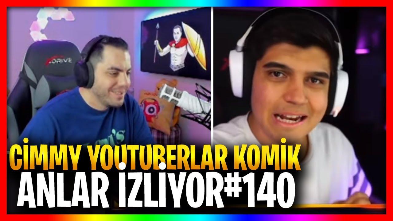 CİMMY TV   CİMMY YOUTUBERLAR KOMİK ANLAR 😂 İZLİYOR#140
