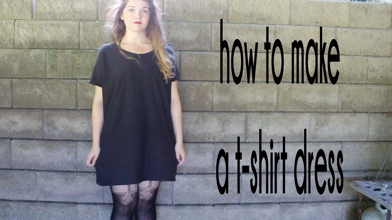 DIY: T-Shirt Dress | RemiiRoo - YouTube
