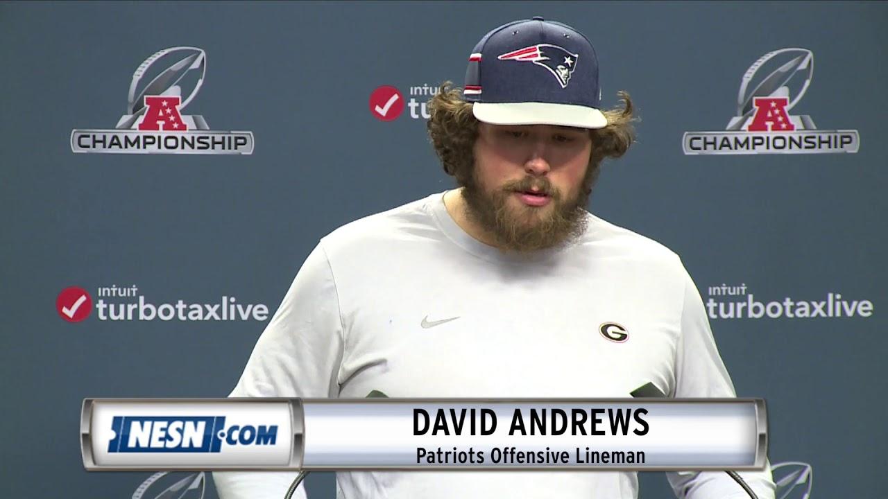 e78f5fba5 David Andrews Patriots vs. Chiefs AFC Championship Press Conference ...