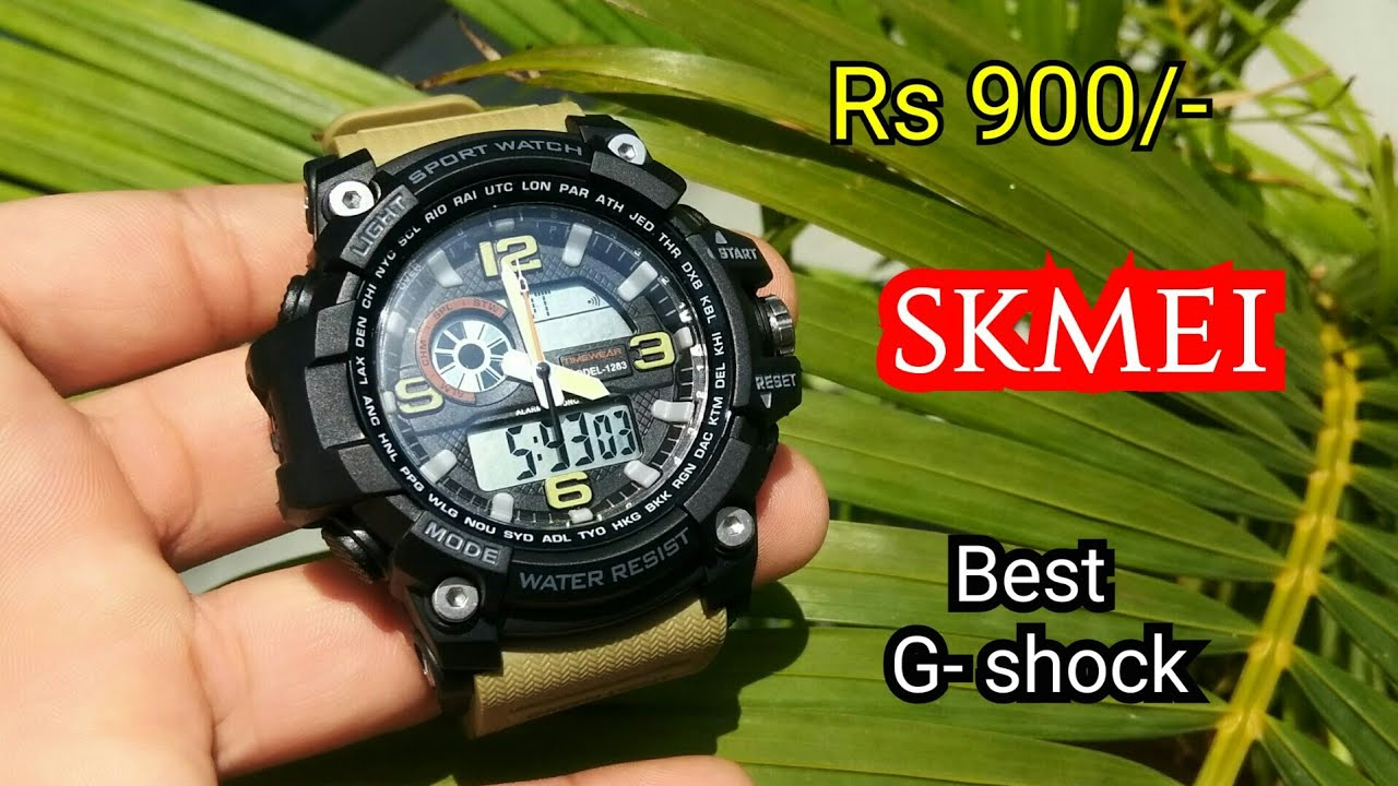 e586e6169a98a Timewear Skmei Military Series Analogue Digital Black Dial Watch For Men &  Boys unboxing & Review
