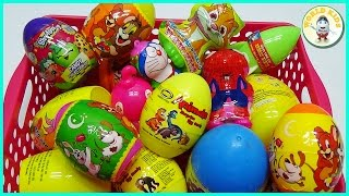 20 Surprise Eggs ! SpiderMan Doraemon Shopkins Dinosaur Egg ! Bóc Trứng Bất Ngờ ! World Kids !
