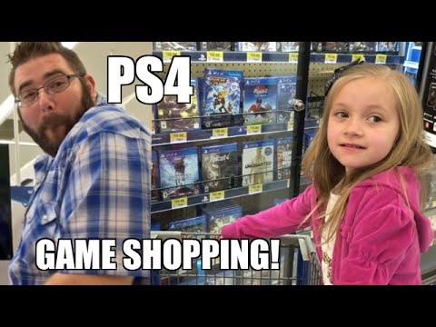 EMBARRASSING DAD PS4 VIDEO GAMES SHOPPING AT WALMART!