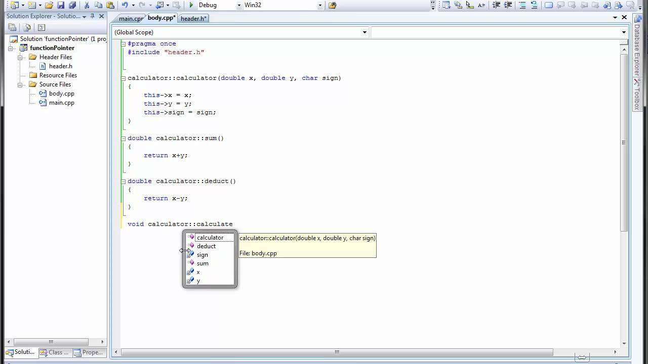 (C++) Function pointer in example - YouTube