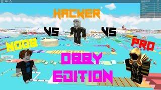 Noob VS Hacker VS Pro[Roblox Obby Edition]