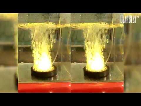 7 - Color Slow Flash Bubble Aquarium Light For Submersible Fish Tank - GearBest.com