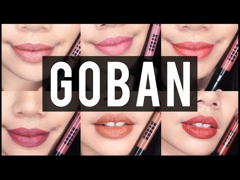 goban-melted-matte-lip-swatches-and-review