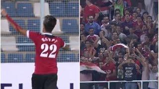 احمد الشيخ يحتفل على طريقة أبو تريكة والجماهير تهتف ( يايا يايا يا تريكة ) بطولة كأس العالم العسكرية