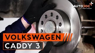 Hur byter man Bromsklotsar VW CADDY III Box (2KA, 2KH, 2CA, 2CH) - online gratis video