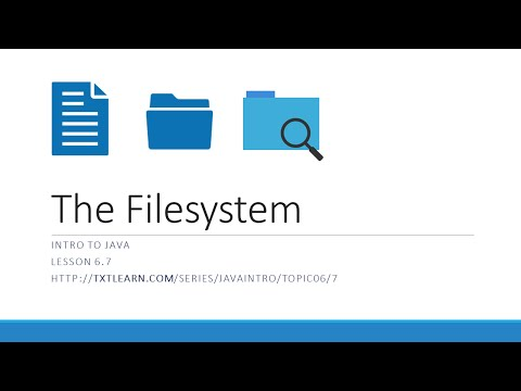 Working With the File System in Java (6.7)