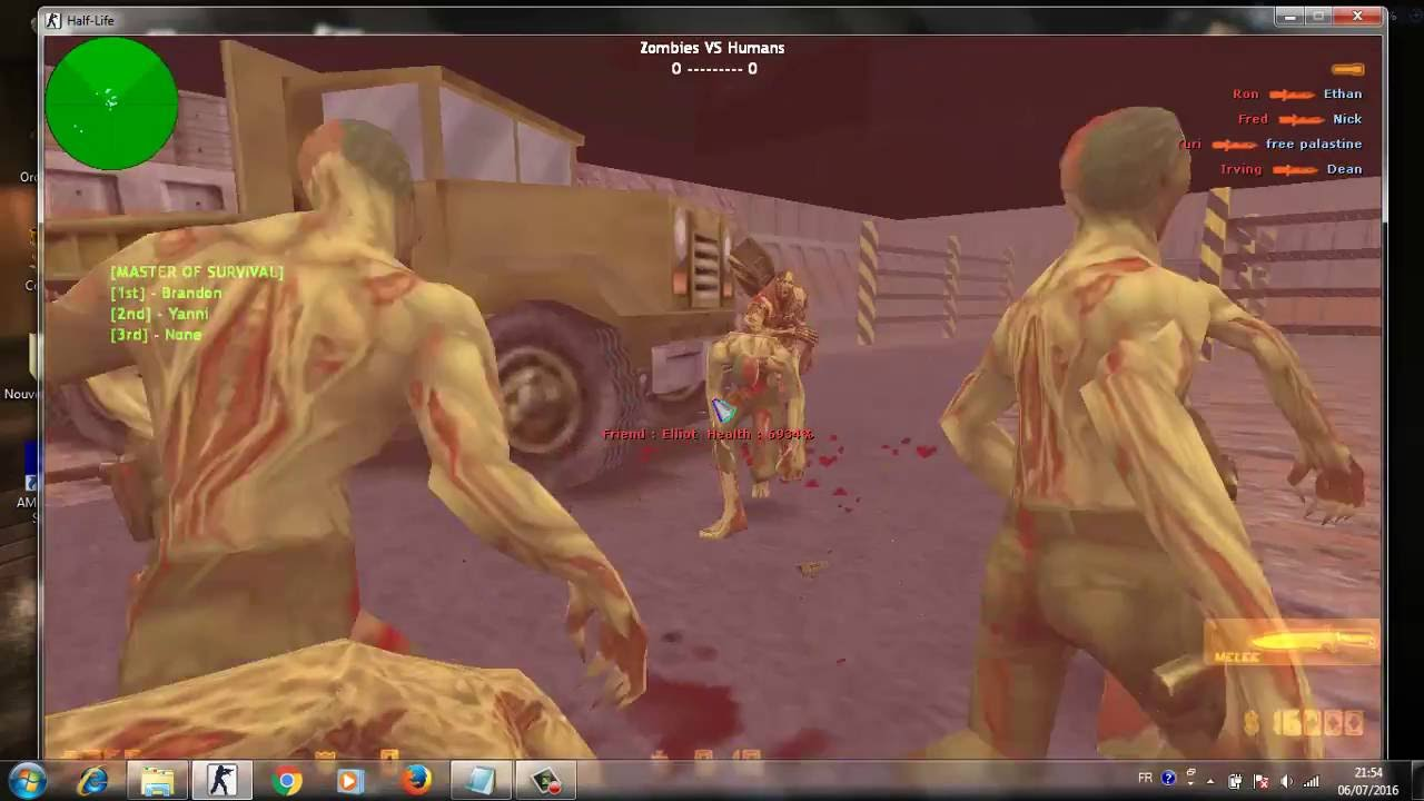 Counter-strike: source game mod counter-strike: zombie.
