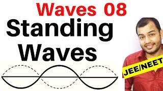 Waves 08 : Standing Waves or Stationary Waves : Concept , Visualization and Equation IJEE MAINS/NEET
