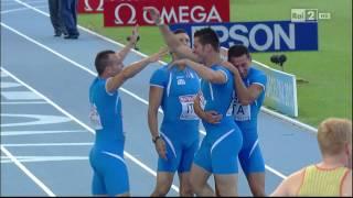 4x100m man FINAL 20th European Athletics Championships Barcelona 2010 HD