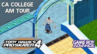 Tony Hawks Pro Skater 4 GBA CA College Amateur Tour - All Goals And Collectibles