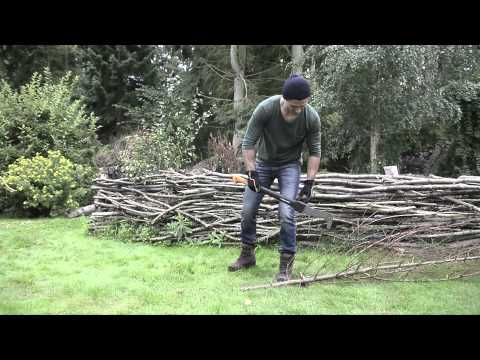 How to chop small trees and branches with Fiskars Brush Hook XA23