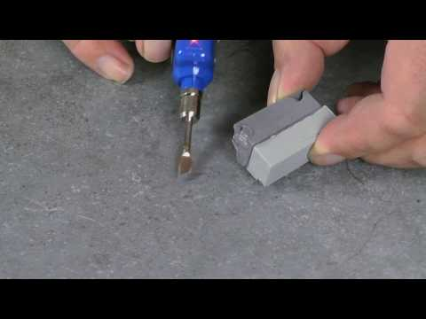 Step by step video guide for repairing a chipped tile
