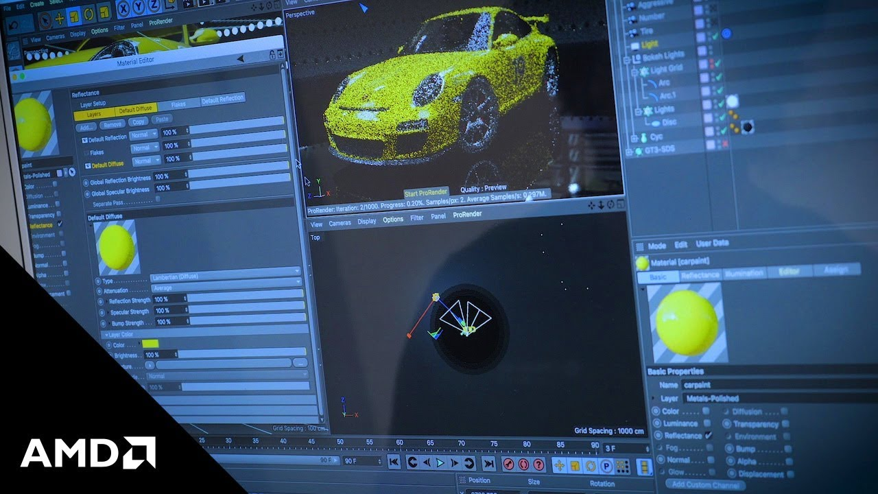 GPU rendering within Maxon Cinema4D and its native integration of Radeon  ProRender