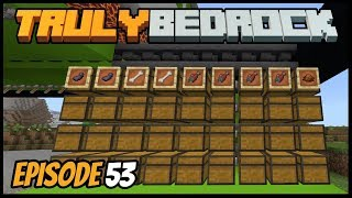 Fish And Squid Farm Bulk Sorting! - Truly Bedrock (Minecraft Survival Let's Play) Episode 53