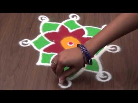 Simple Rangoli Design and Small rangoli Design YouTube