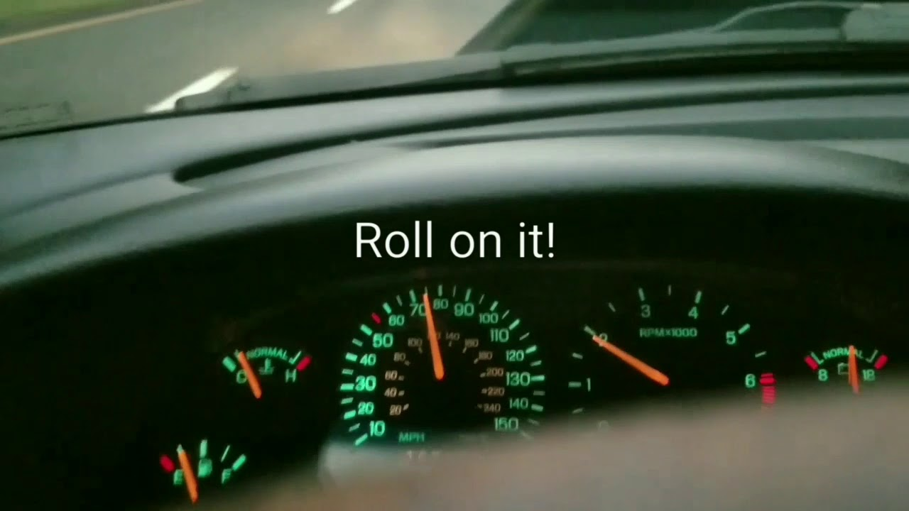 95 Mustang GT 351w turbo- highway test - YouTube