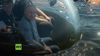 Putin se sumerge en batiscafo hasta donde se hundió un submarino soviético en 1942
