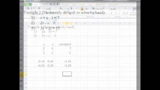 Solving Simultaneous Linear Equations with MS-Excel