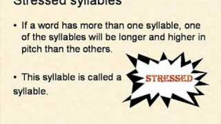 Identifying Syllable Stress
