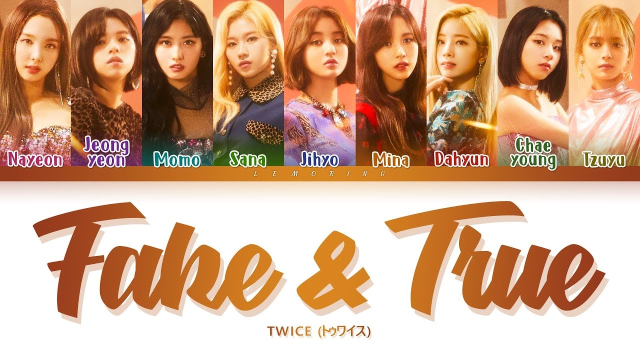 Twice Fake True 트와이스 トゥワイス Fake True Color