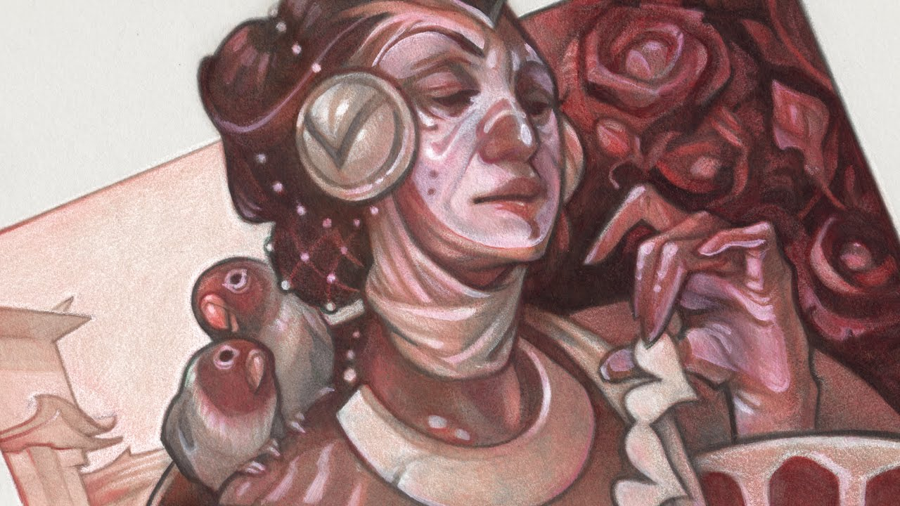 Painting Process Queen Of Hearts Part 3 Oil Painting