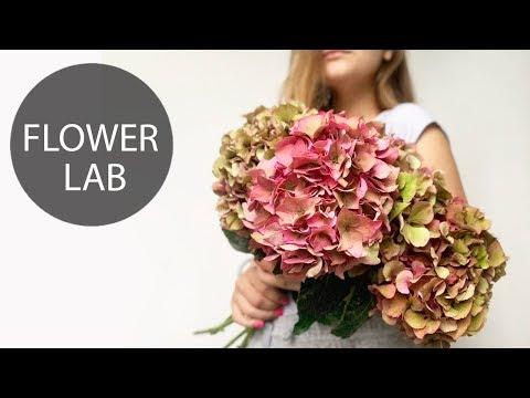 DIY GREEN Hydrangeas Bouquet | How to Wrap a Bouquet