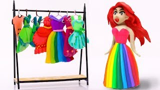 Download Pretend Play with Mermaid Princess Dresses Rainbow Colors EQUESTRIA GIRLS  40 CFKYoYo Mp3 and Videos