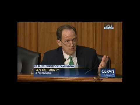 Toomey: Reducing imports invites retaliation, drives up costs and reduces choices