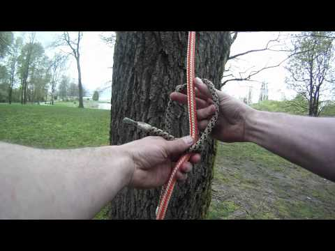 How to tie the Distel hitch | Arborist knot tying