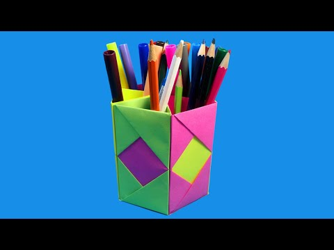 DIY Desk Organizer | How to make Pen Stand | Easy Paper Craft