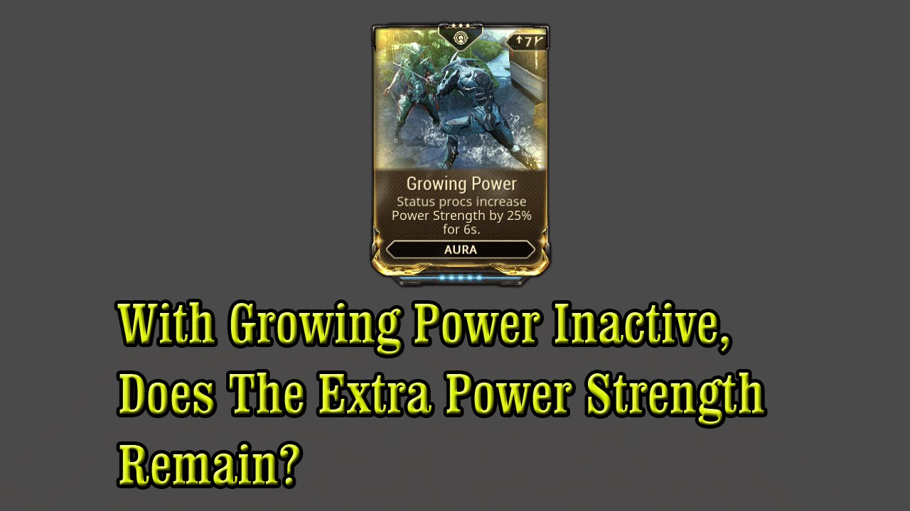 Warframe Ps4 With Growing Power Inactive Does The Extra Power Strength Remain Youtube With the help of warframe. warframe ps4 with growing power inactive does the extra power strength remain
