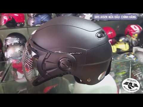 Mũ GRS A102K - Mũ nửa đầu chính hãng VN & Đài Loan - Hàng bảo hành 3 năm