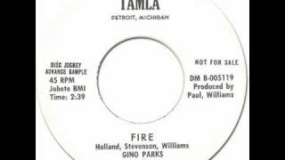 GINO PARKS & THE LOVE TONES - Fire [Tamla 54066] 1962 Early Motown