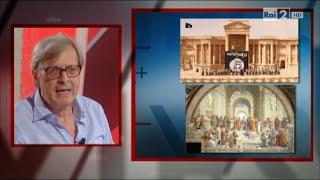 """Vittorio Sgarbi """"In nome di Dio non si può uccidere né distruggere"""" - Virus 17/09/2015"""