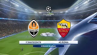 Download Video PES 2018 FC Shakhtar Donetsk Vs. A.S. Roma Champions League 1st Leg Match Highlights MP3 3GP MP4