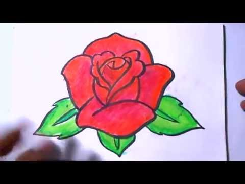 How to Draw a Rose Coloring | YZArts - YouTube