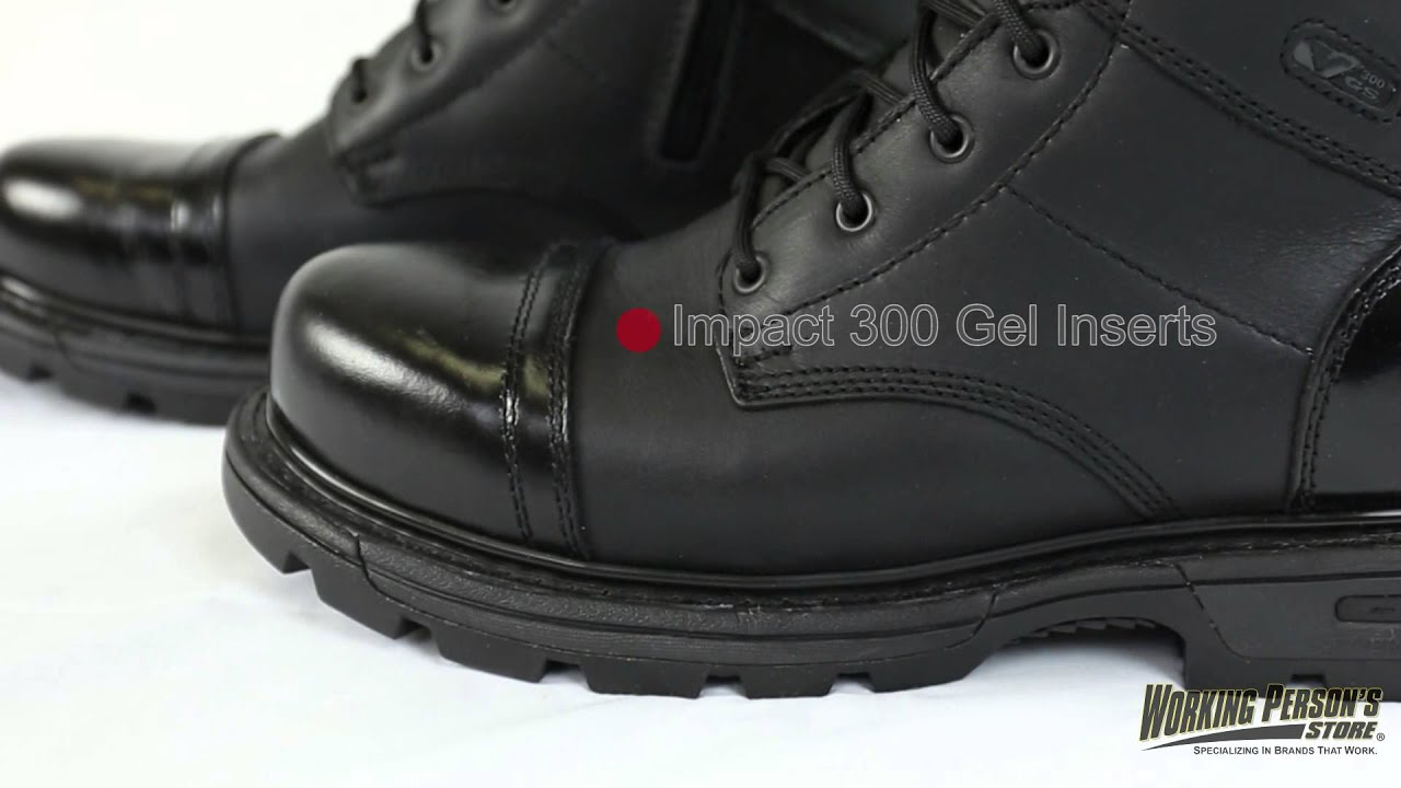 a315c05610c Thorogood Boots: Men's 834 6888 Black 8 Inch Uniform SIde Zip Jump Rubber  Boots