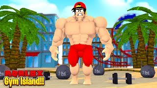 ROBLOX - GYM ISLAND - ROPO IS THE STRONGEST ISLANDER!!