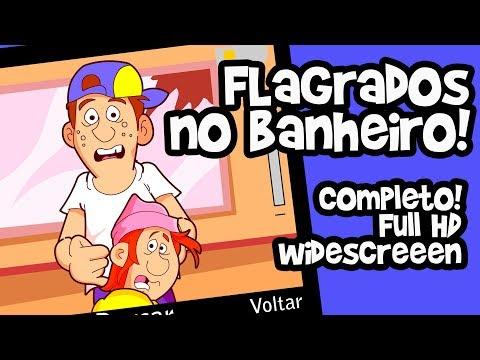 FLAGRADOS FAZENDO SACANAGEM NO BANHEIRO! (Completo!)