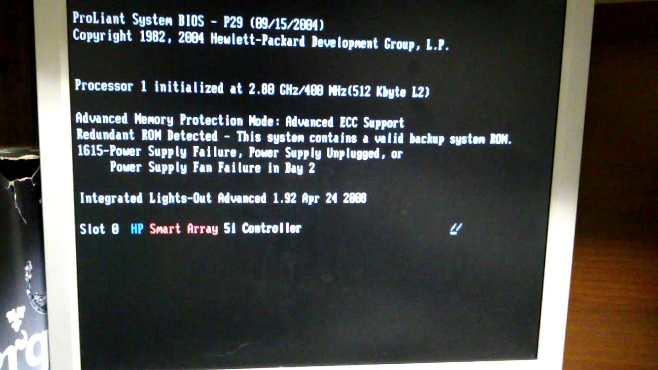 HP proliant dl380 first boot  No disks